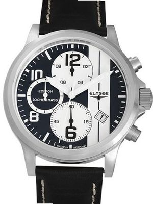 Elysee 44mm Paddock Quartz Chronograph with Stop and 12-hour Totalizer 18008