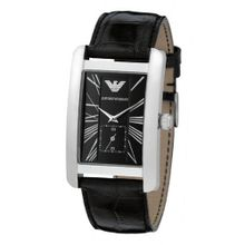 Emporio Armani AR0143 Classic Black Leather Band