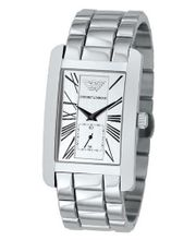 Emporio Armani AR0145 Classic Stainless Steel Roman Numeral Dial