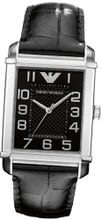 Emporio Armani AR0363 Black Crocodile Leather Quartz with Black Dial