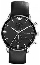 Emporio Armani AR0397 Black Leather