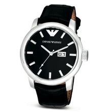 Emporio Armani AR0428 Black Leather Strap