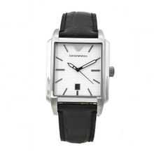 Emporio Armani AR0481 Classic Black Leather Band