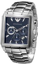 Emporio Armani AR0660 Silver Stainless-Steel Quartz with Blue Dial