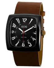 EOS New York 100LBRN Accomplish Brown Leather Strap