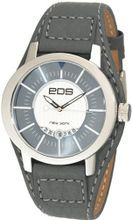 EOS New York 112S Bullseyes Grey Leather Strap