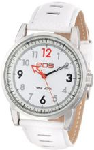 EOS New York 135LWHT Redknight White Leather Strap