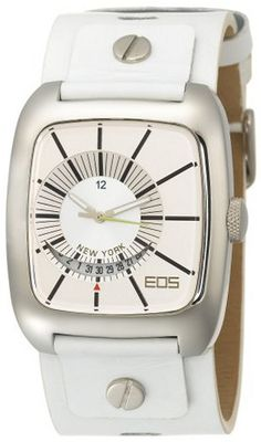 EOS New York 228SWHT Zephyrized White Leather Strap