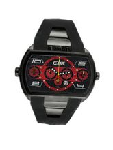 Dash XXL with Black Case and Black / Red Dial