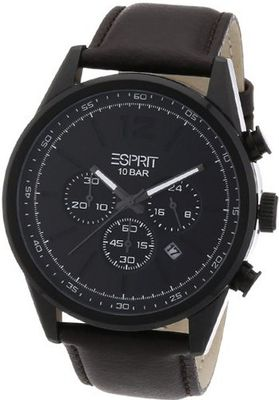 Esprit es106351003 44mm Stainless Steel Case Brown Leather Mineral