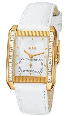 Esprit Quartz Vitality Gold White ES102362002 with Leather Strap
