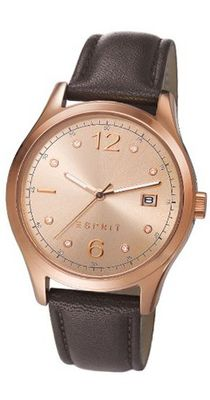 Esprit Tracy es106692011 36mm Rose Gold Case Brown Leather Mineral
