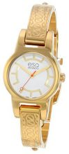 ESQ Movado 07101413 Nova Ionic Gold-Plated Stainless Steel Case and Bracelet Silver Dial