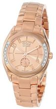 "ESQ Movado 07101435 ""Origin"" Ionic Rose Gold-Plated Stainless Steel and Diamond"