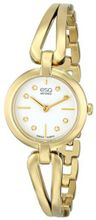 ESQ Movado 07101444 Corbel Gold-Toned Stainless Steel Case and Bracelet White Dial  Diamond Accents