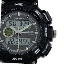 Brand New Rubber Strap Black Analog Digital Dual Dial Luxury Sport WS056