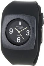 Essential by A.B.S 40011 Genuine Black Silicon Strap