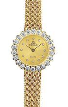 Euro Geneve 14K Gold Ladies' Diamond Round With 14K Gold Mesh Band-47452