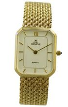 Euro Geneve 14K Gold Rectangle -Mesh Band