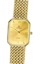 Euro Geneve 14k Gold Rectangle with Mesh Band-47551