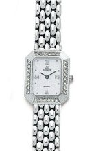 Euro Geneve 14K White Gold Ladies' Diamond Rectangle With Panther Band-47658