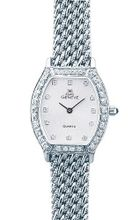 Euro Geneve 14K White Gold Ladies' Diamond Tonneau With Mesh Band-47602
