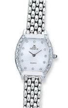 Euro Geneve 14K White Gold Ladies' Diamond Tonneau With Panther Band-47654