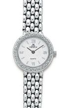 Euro Geneve 14K White Gold Round Ladies' Diamond With Panther Band-47657
