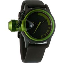 Eviga Bulletor (Black Dial; Green Bezel)