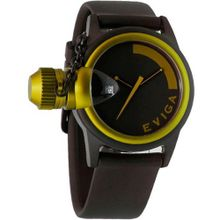 Eviga Bulletor (Black Dial; Yellow Bezel)