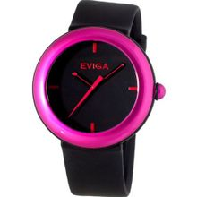 Eviga Cirkle (Black Dial; Hot Pink Bezel)