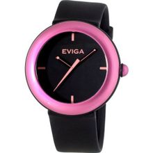 Eviga Cirkle (Black Dial; Light Pink Bezel)
