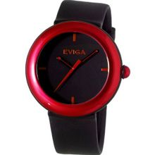 Eviga Cirkle (Black Dial; Red Bezel)