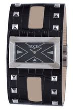 Exte EX.4017M-01 black calfskin band .