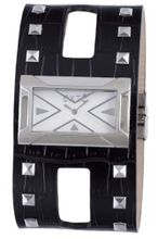 Exte EX.4017M-02 black calfskin band .