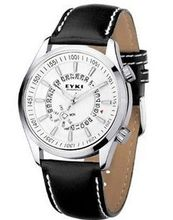 uEyki by Ufingo Ufingo-Korean Fashion Students Calendar Leather Strap Wrist For /Boys-White