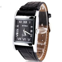 uEyki by Ufingo Ufingo-Leather Strap Roman Numerals Elegant Retro Fashion For /Boys-Black