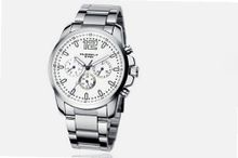 uEyki by Ufingo Ufingo-Stainless Steel Three Calendar Racing Outdoor Sports Wrist For /Boys-White