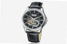 Ufingo-Automatic Mechanical Hollow Business High End Luxury Casual For /Boys-Black