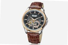 Ufingo-Automatic Mechanical Hollow Business High End Luxury Casual For /Boys-Brown Black
