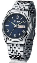EYKI 8470 Quartz Waterproof Wristes Blue Dial and Stainless Steel Band