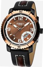 EYKI 8559 Quartz Waterproof Sports Wristes Chocolate Dial and Stainless Steel Band