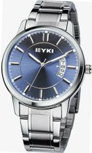 EYKI 8616 Quartz Waterproof Wristes Blue Dial and Stainless Steel Band