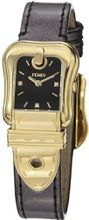 Fendi B. Fendi Ladies Black Diamond Dial Yellow Gold Plated F380421021D1