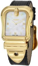 Fendi B. Fendi Ladies Large Mother-of-Pearl Diamond Dial Yellow Gold Plated F382414511D1