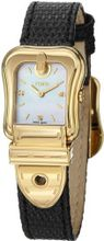 Fendi B. Fendi Ladies Mother-of-Pearl Diamond Dial Yellow Gold Plated F382424511D1
