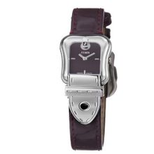 Fendi B. Fendi Ladies Shiny Dark Red Leather Strap Buckle Shaped F370277