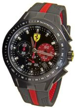 Ferrari 0830023 Scuderia Textures of Racing Chrono Black Red  NEW