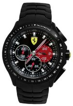 Ferrari 0830084 Scuderia Textures of Racing Chrono Black Red Steel  NEW