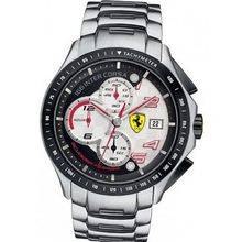 Ferrari 0830085 Chronograph Black & White Dial Stainless Steel